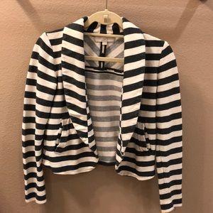 Loft gray and white stripe blazer size small